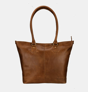 Finelaer Women Shopper Brown Leather Large Tote