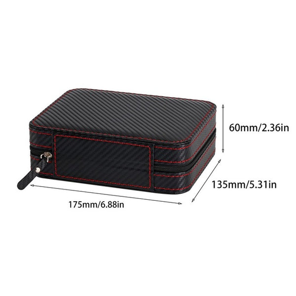 2/4 Grids Carbon Fibre Leather Watch Box with