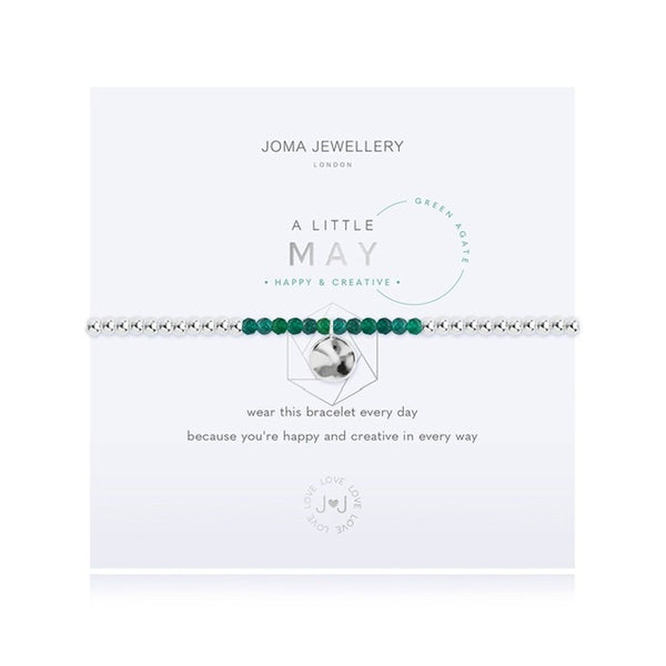 Joma - A Little Birthstone May Green Agate Bracelet