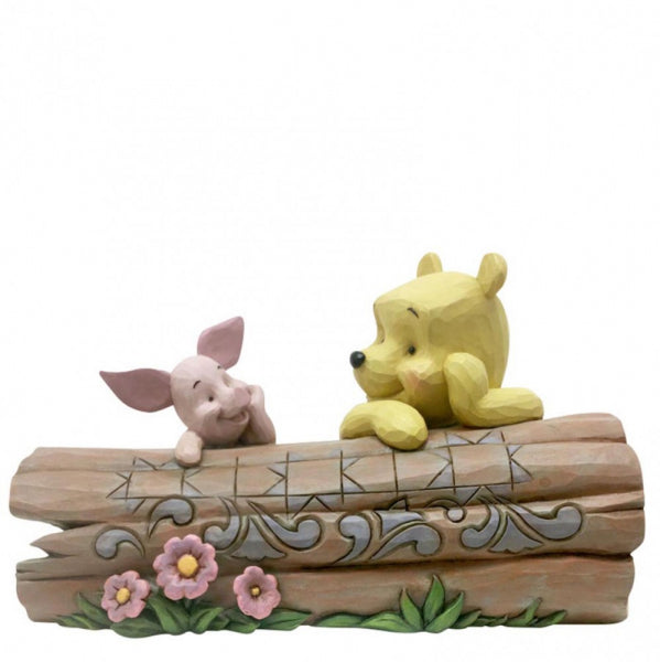 Disney Traditions - Truncated Conversation -Pooh and Piglet on a Log