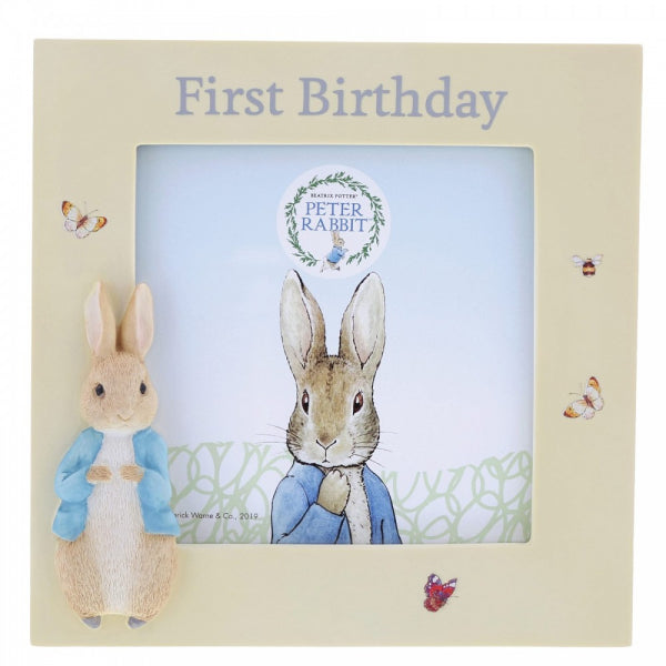 Peter Rabbit  - First Birthday Photo Frame