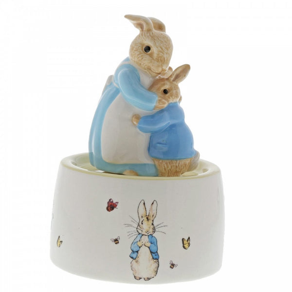 Mrs. Rabbit and Peter Rabbit Ceramic Musical