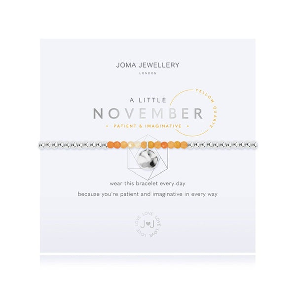 Joma - A Little Birthstone November Yellow Quartz Bracelet