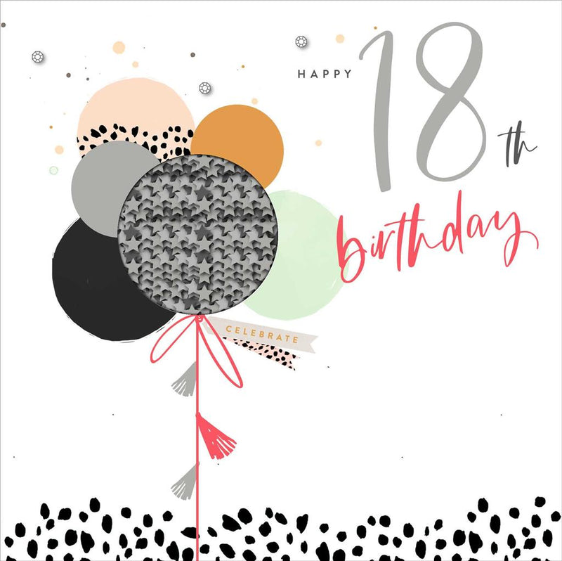 UKG Greetings Card - Happy 18th Birthday