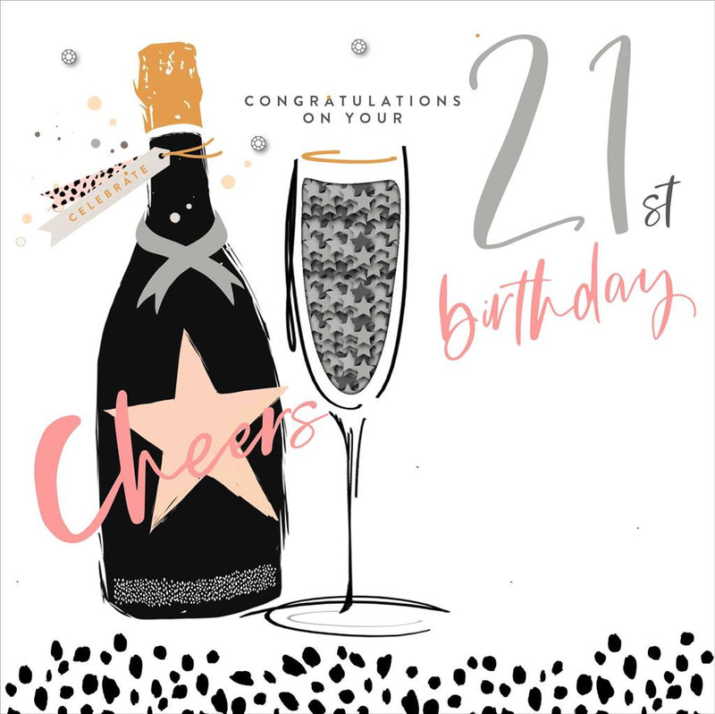 UKG Greetings card - Congratulations on Your 21st Birthday