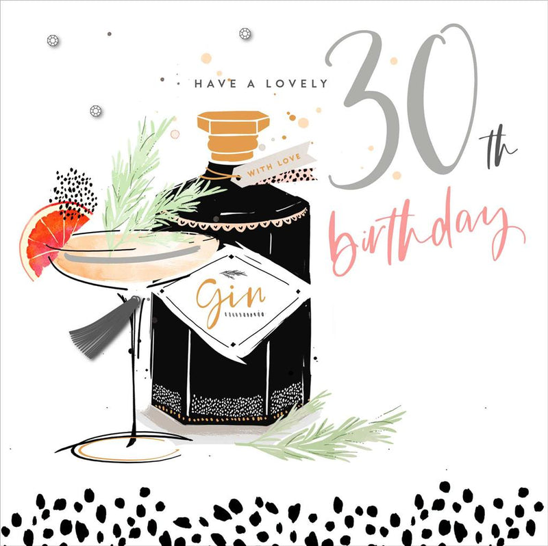 UKG Greetings card - Have a Lovely 30th Birthday