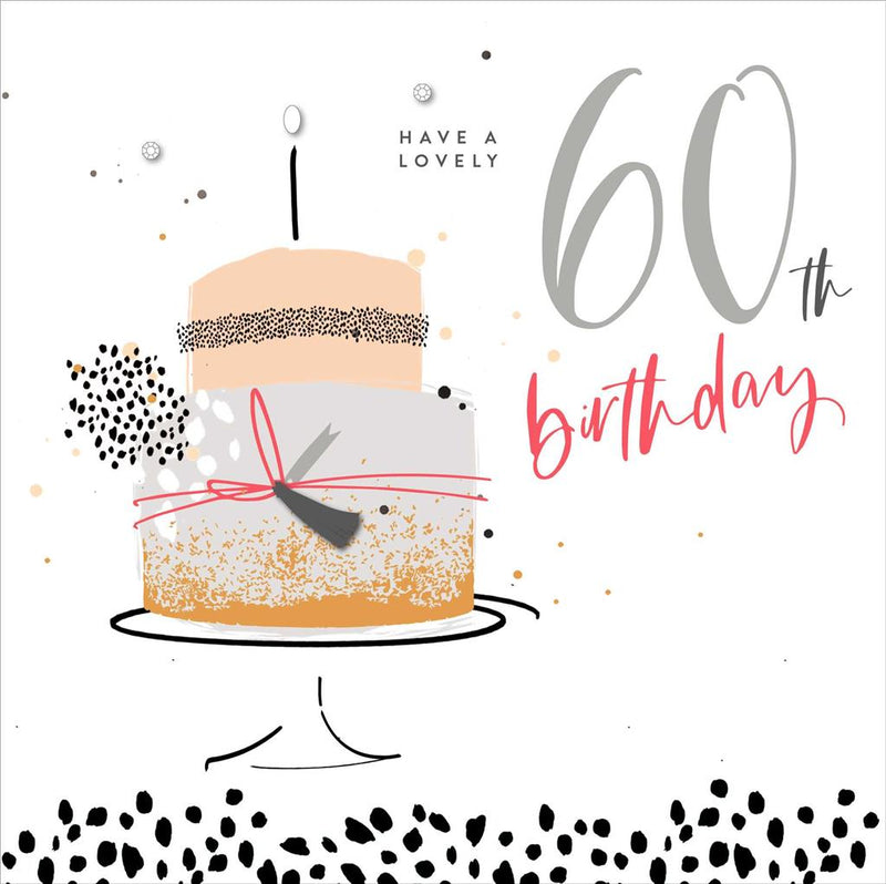 UKG Greetings Card - Have a Lovely 60th Birthday