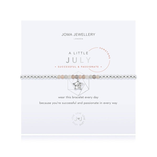 Joma - A Little Birthstone July Sunstone Bracelet