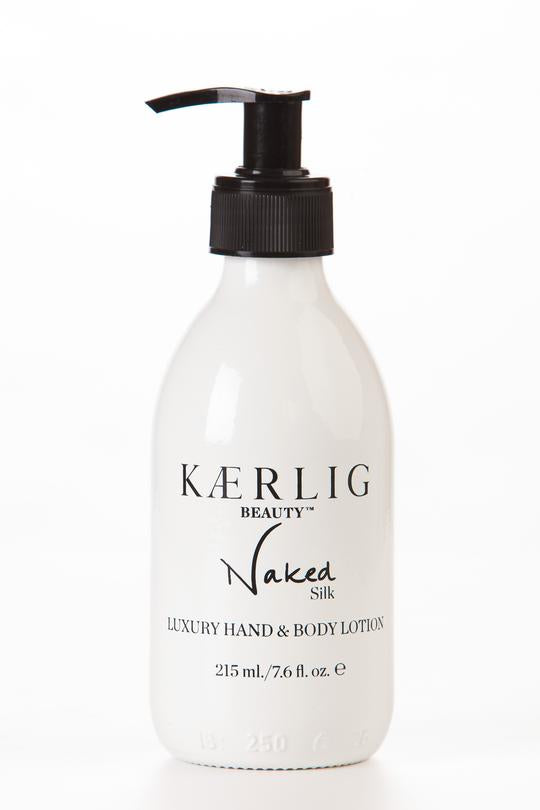 Kaerlig Beauty - Naked Silk Luxury Hand and Body Lotion