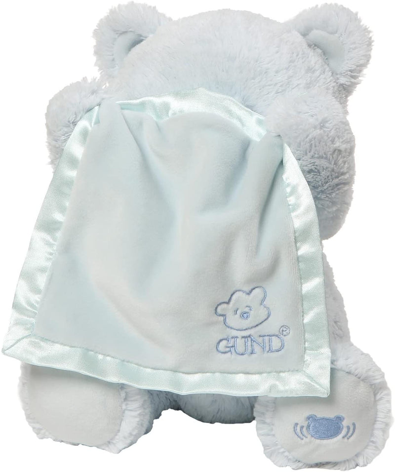 Baby GUND  - My First Teddy Peek A Boo Blue Soft Toy