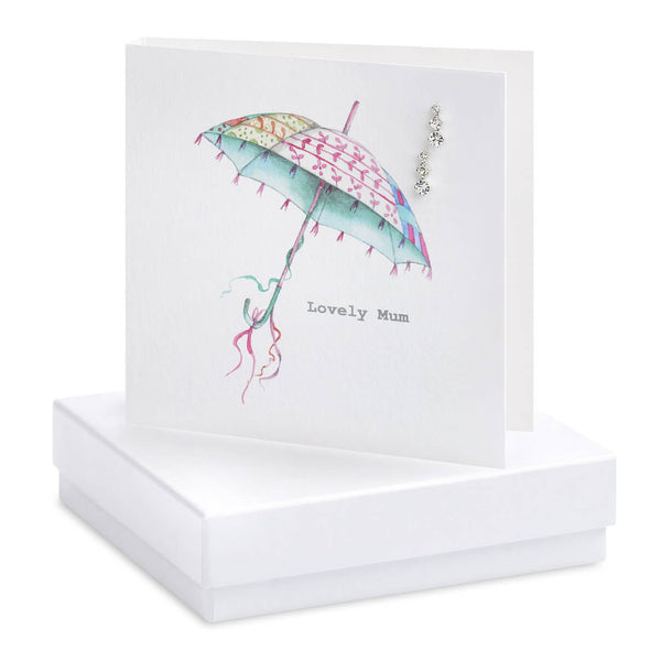 Crumble and Core - 'Lovely Mum' - Umbrella - Boxed Earring Card