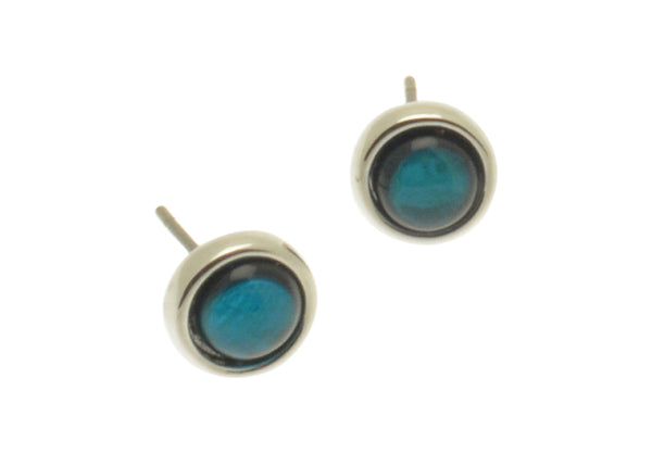 Miss Milly Aqua Turquoise Blue shell resin Stud earrings