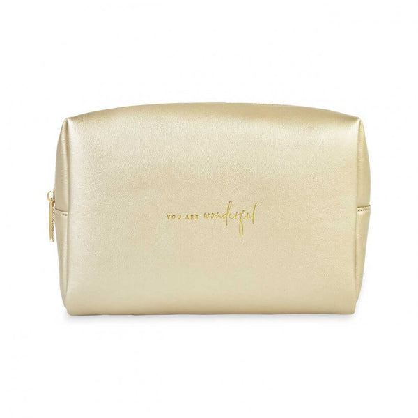 Katie Loxton - Washbag - Gold - You are Wonderful