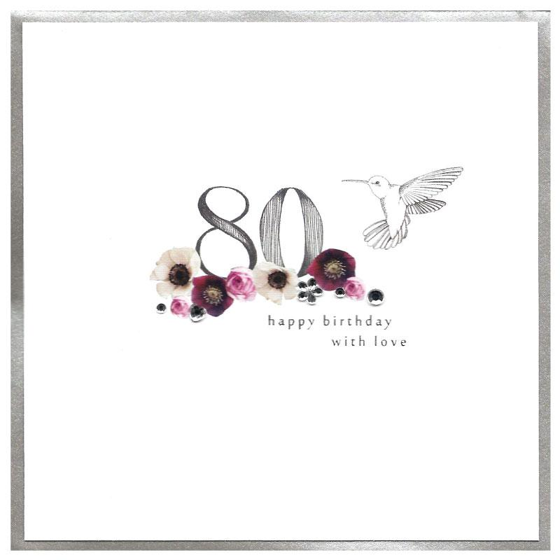 Piccadilly Greetings card - Happy 80th birthday
