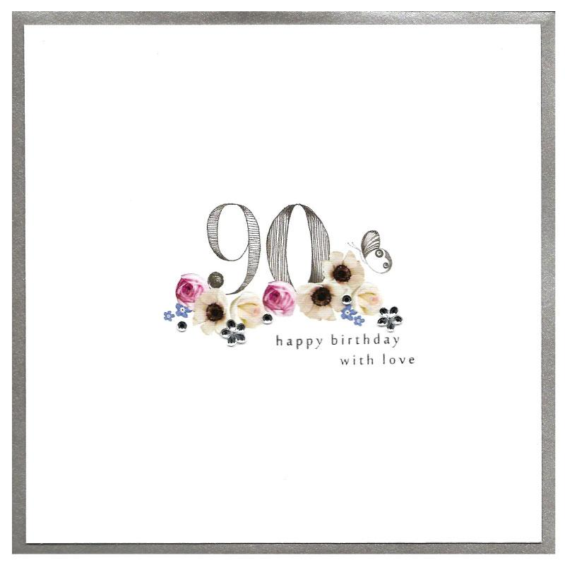 piccadilly greetings card - happy 90th birthday