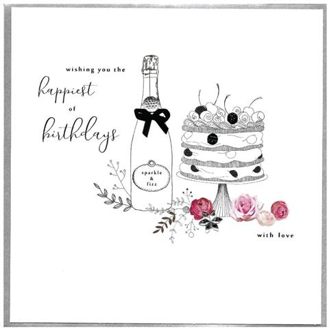 Piccadilly Greetings Card - Wishing you the happiest of birthdays