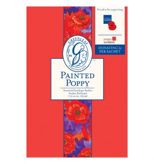 Greenleaf Scented Sachet - Painted Poppy