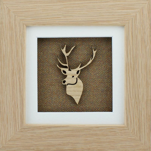 The Damside - Scottish Life framed picture - Moss Stag