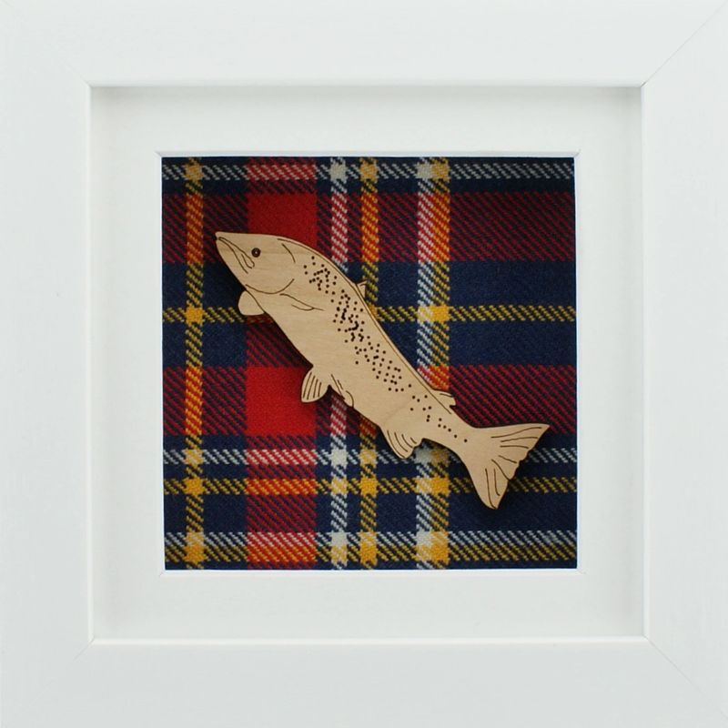 The Damside - Scottish Framed Picture - Salmon Jumping