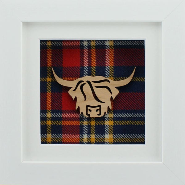 The Damside - Scottish Framed Picture - Highland Cow