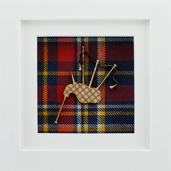 The Damside - Scottish Framed Picture - Bagpipes