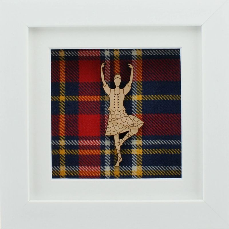 The Damside -Scottish Framed Picture - Highland Dancer