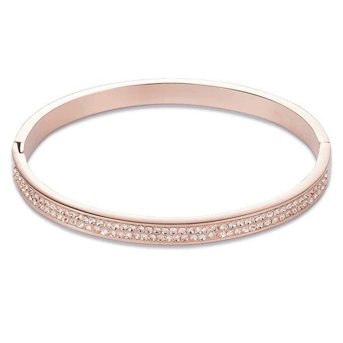Coeur De Lion Rose Gold with Peach Crystals Bangle