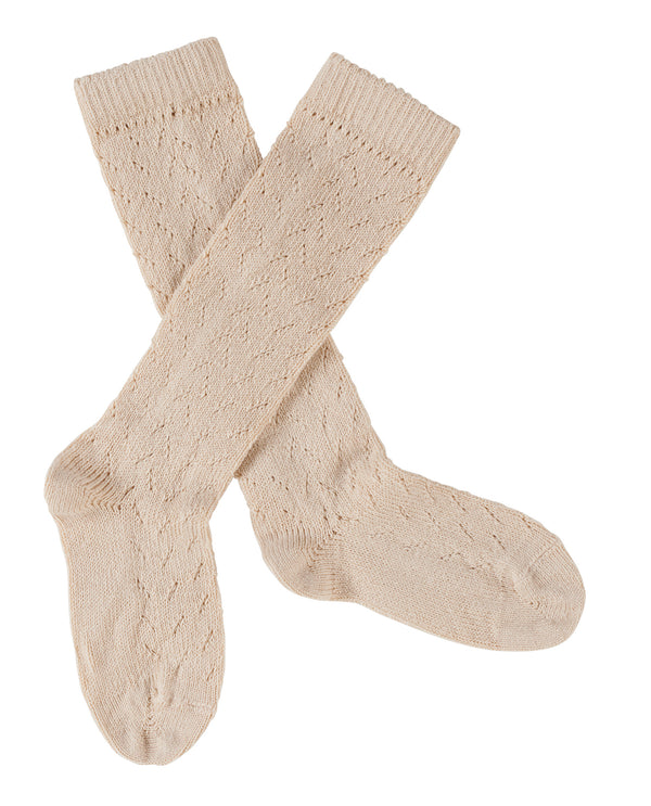 Pelerine knee high socks - buttermilk