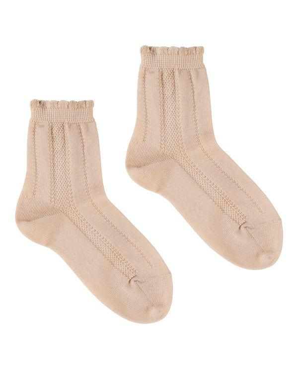 Fancy ankle socks - buttermilk