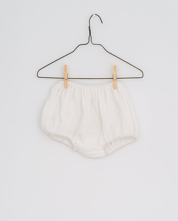 Charlie bloomers - off-white muslin