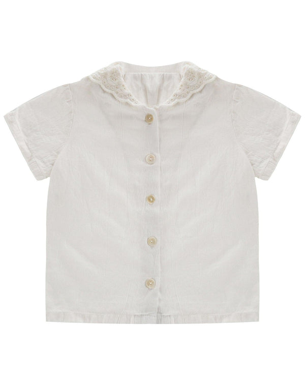 Ethel sailor blouse - with lace collar