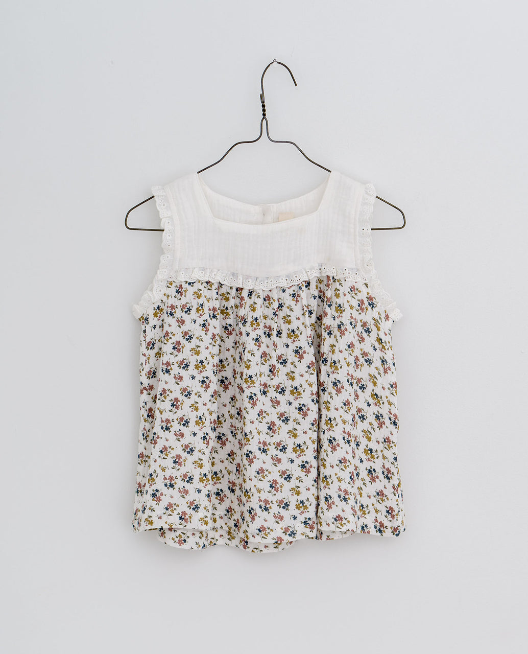 Frida sun top - Aster floral in muslin
