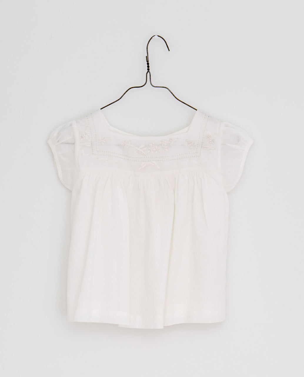 Jocelyn blouse embroidered blouse - off-white voile