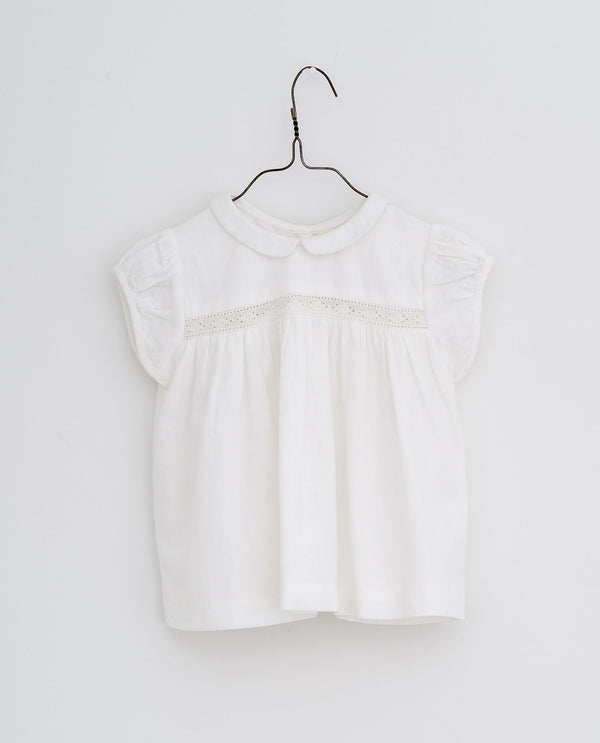 Juno lacy blouse  - off-white