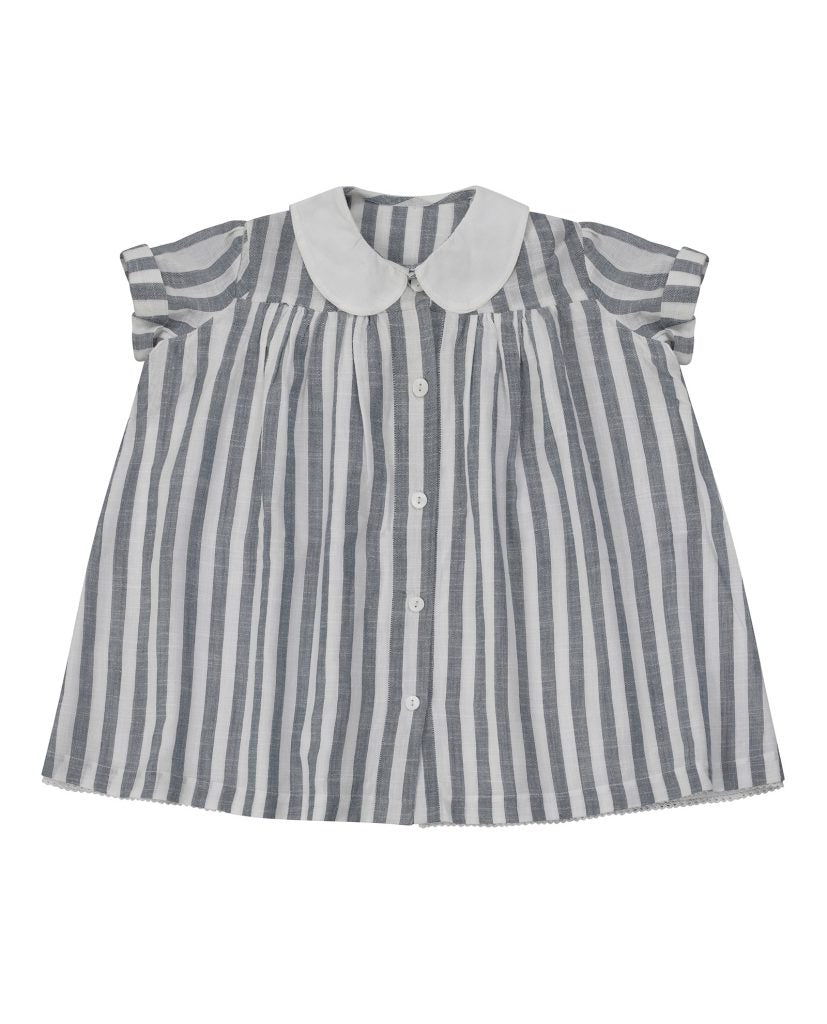 Ida Dress - blue stripe