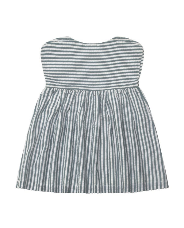 Rosie Dress - spearmint seersucker stripe
