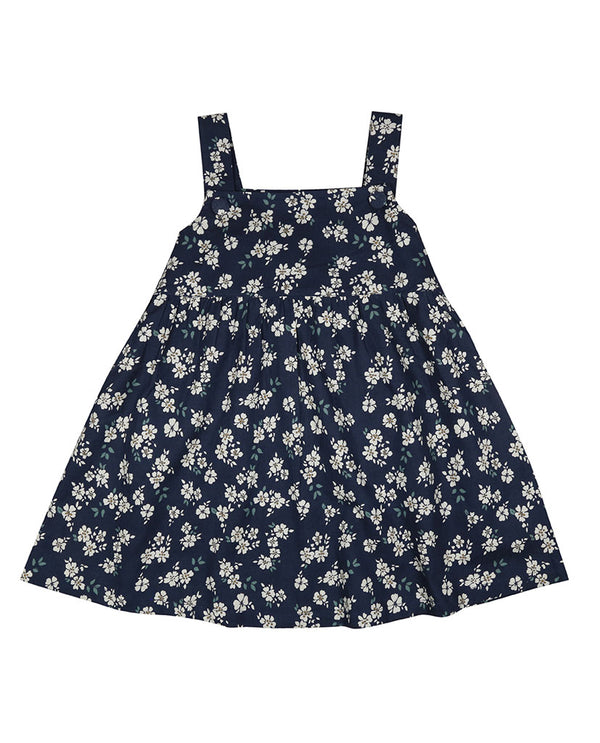 Tabitha Pinafore - brushed cotton in Winter rose floral