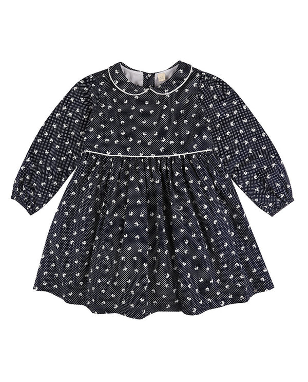Dorothy Dress - petal floral in midnight blue