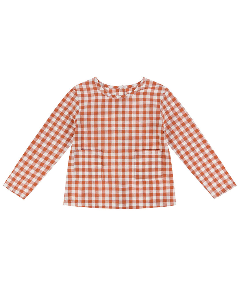St Ives Shirt - rust gingham