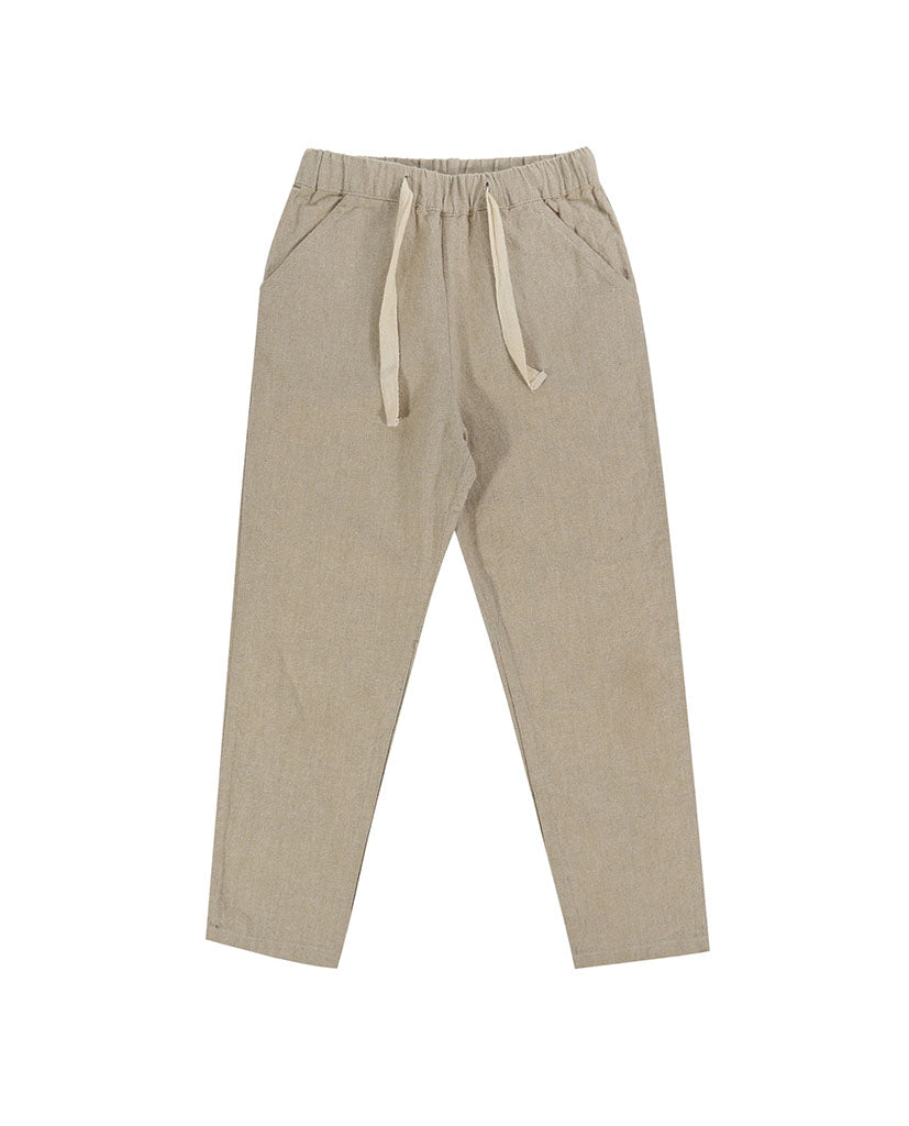 Tenby Trousers - natural cotton