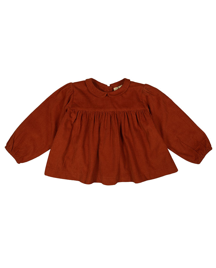 Emma Blouse - rust needlecord