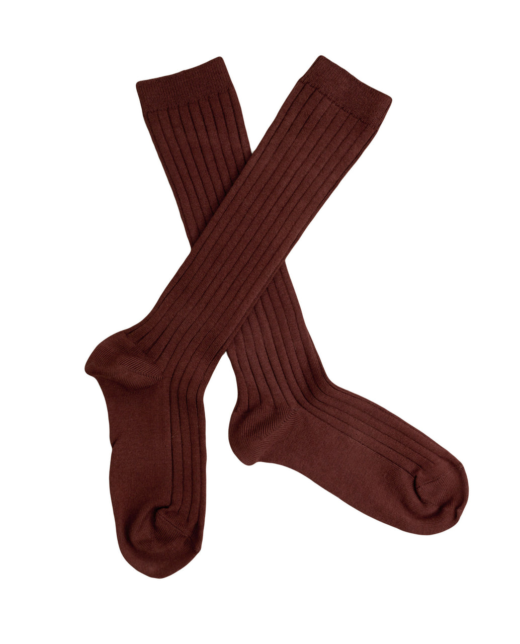 Ribbed knee high socks - conker *NEW*