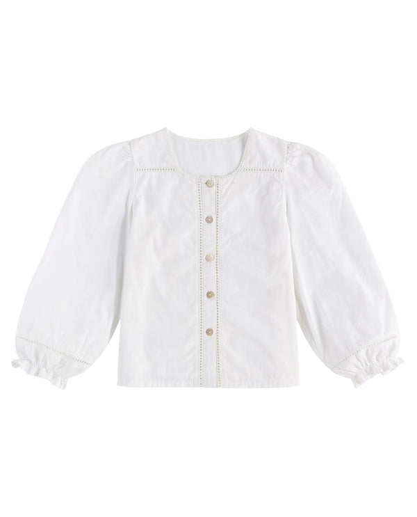 Connie blouse – off-white cotton