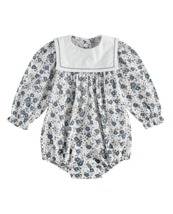 Maeve sailor collar romper - watercolour floral