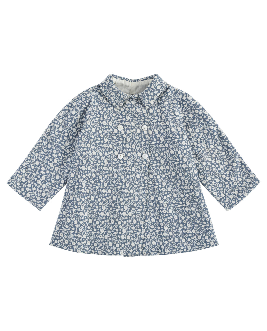Sophie jacket - blue floral brushed cotton