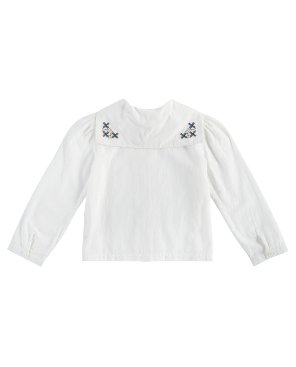 Sidonie sailor blouse - cross stitch collar