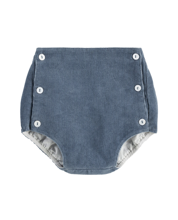 Folkestone button front bloomers - blue corduroy