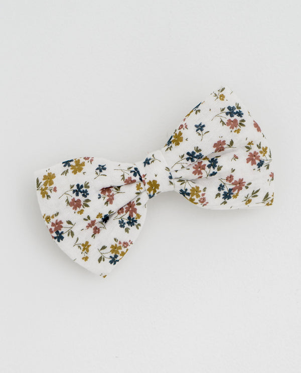 Large hair bow - Aster floral muslin