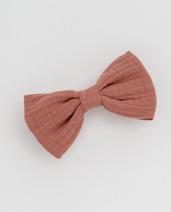 Large hair bow - old rose muslin