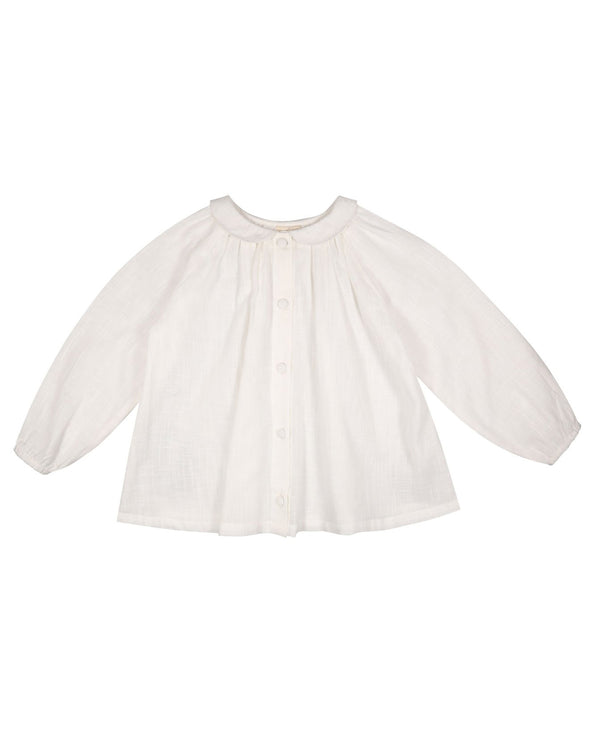 Miriam blouse - textured cotton in chalk